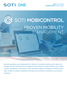 Download the SOTI MobiControl Brochure