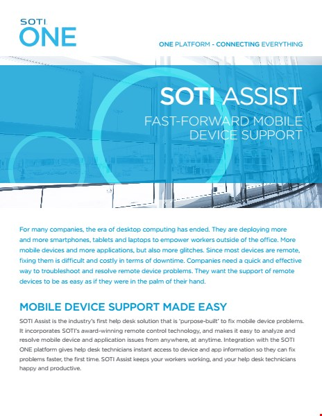 SOTI Assist Brochure
