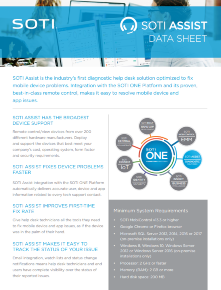 Download the SOTI Assist Data Sheet