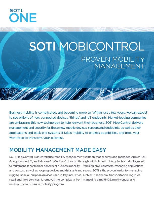 MobiControl and Honeywell document screenshot