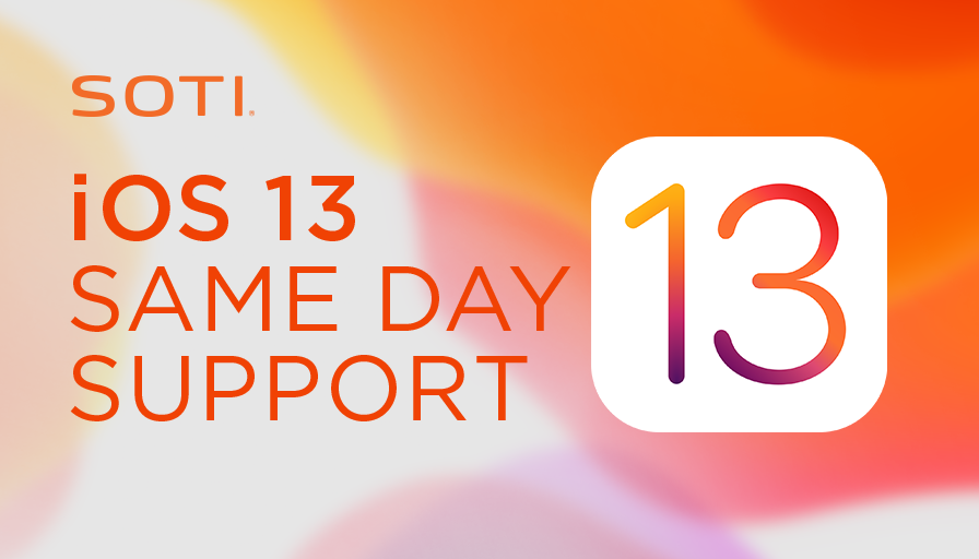 SOTI delivers same day support for iOS 13 with the release of SOTI MobiControl 14.4.3