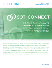 SOTI Connect for TSC Printronix Auto ID brochure