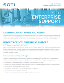 SOTI Enterprise Support brochure