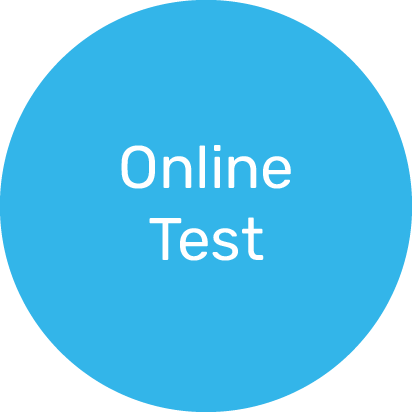 The first step of the selection process is the Online Test.